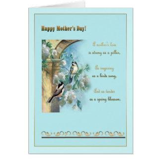 """Mime al """" día de s, al pilar antiguo, a los rosas tarjeta de felicitación"""