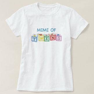 Mimi de bloques de los gemelos camiseta