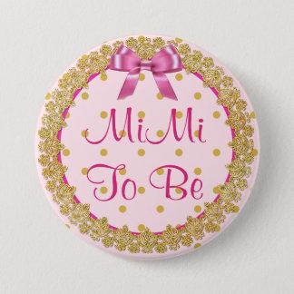 MiMi para ser botón rosado y del oro de la fiesta
