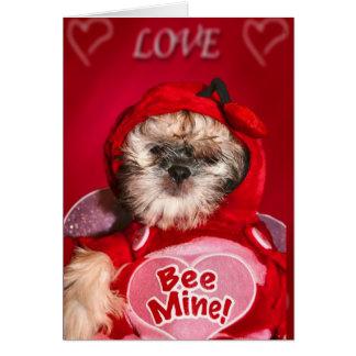 mina de la abeja tarjeta de felicitación