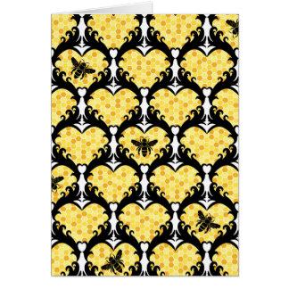 Mina de la abeja, tarjeta del día de San Valentín