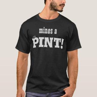 ¡Mina una pinta! la camiseta de los hombres de la