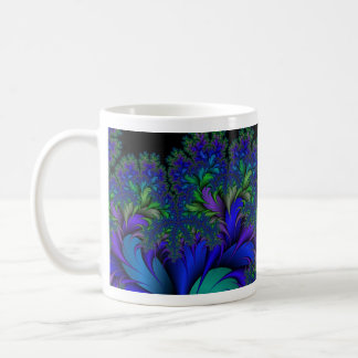 Mineral de pavo real del fractal 2 taza de café