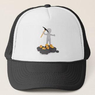 Minero de Bitcoin que mina el gorra del camionero