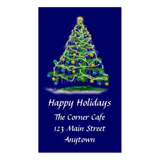 Mini árbol de navidad de las tarjetas w y del cale plantilla de tarjeta personal