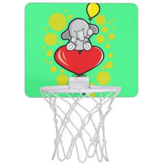 Mini aro de baloncesto con el elefante y los