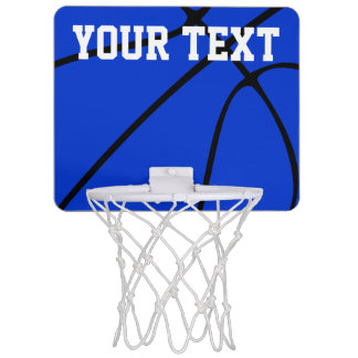 Mini aro de baloncesto del baloncesto azul de