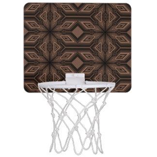 Mini aro de baloncesto del mosaico marrón