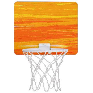 Mini aro de baloncesto - naranja rayado y amarillo