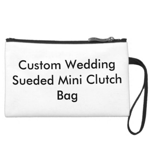 Mini bolso de embrague de encargo de Sueded que se