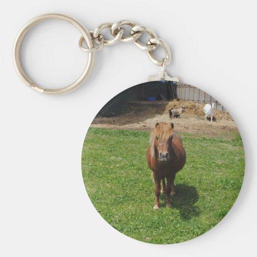 Mini caballos llavero