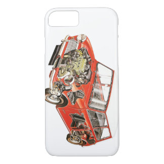 Mini caja clásica del teléfono funda para iPhone 8/7