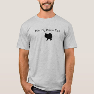 Mini camiseta del papá del rescate del cerdo camiseta