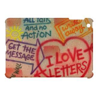 Mini caso de la pintada de amor del iPad retro de