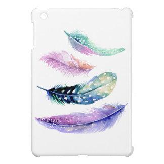 Mini caso del iPad blanco de encargo colorido de