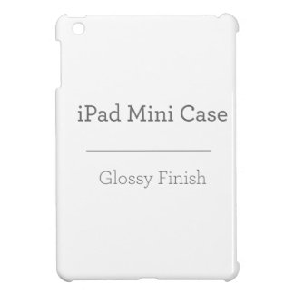 Mini caso del iPad brillante de encargo