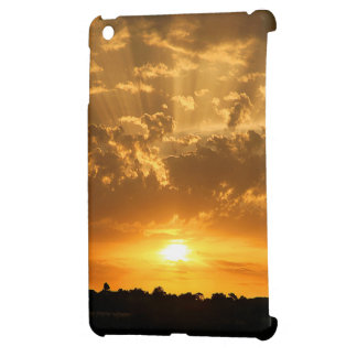 Mini caso del ipad de la puesta del sol
