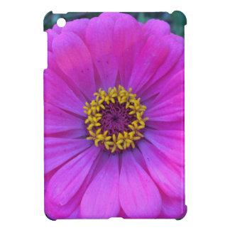 Mini caso del iPad púrpura bonito de la flor