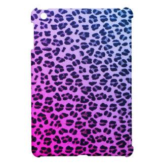 Mini caso del iPad púrpura enrrollado del