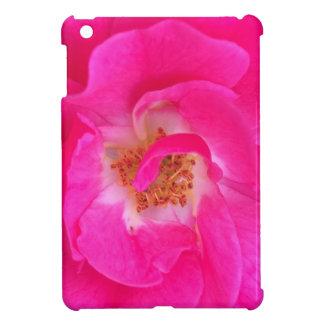 Mini caso del iPad rosado bonito de la flor