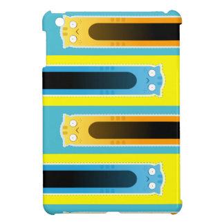 Mini caso del jengibre del gato del iPad azul del
