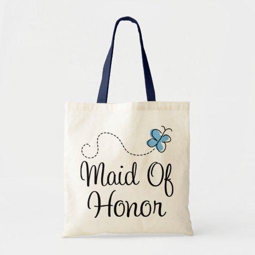 Mini criada de día de boda de la bolsa de asas del