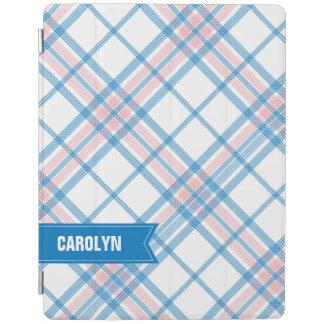 Mini cubierta de la tela escocesa del iPad azul y Cubierta De iPad