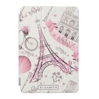 Mini cubierta de París del iPad elegante rosado de