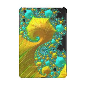 Mini diseño del caso del iPad de oro del cono