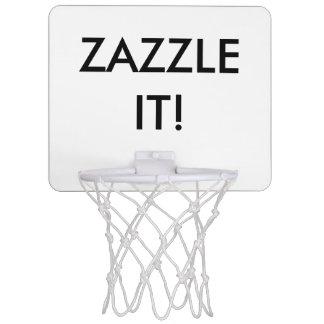 Mini espacio en blanco personalizado personalizado mini aro de baloncesto