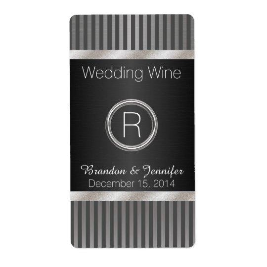 Mini etiquetas elegantes del vino de la bodas de