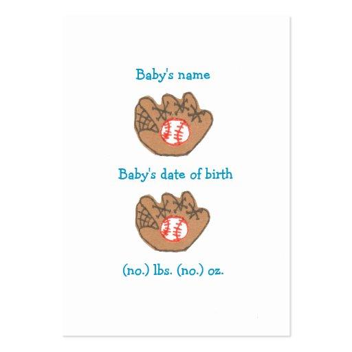 Mini invitación del nacimiento del béisbol tarjeta personal