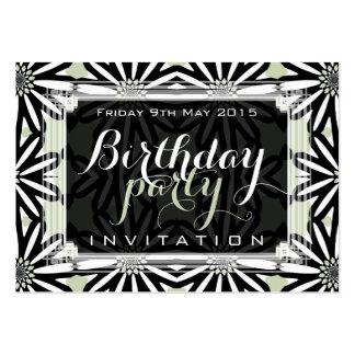 Mini invitaciones de la margarita del arte tribal tarjetas de visita grandes