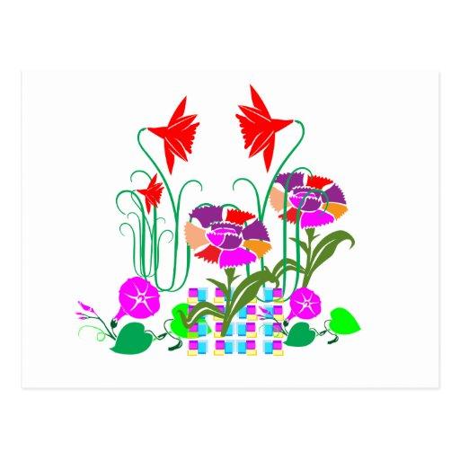 Mini jardín: Centro de flores Postales