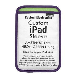 Mini manga del iPad de encargo - Amethyst y verde Funda Para iPad Mini