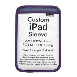 Mini manga del iPad de encargo - (azul Amethyst y Fundas iPad Mini