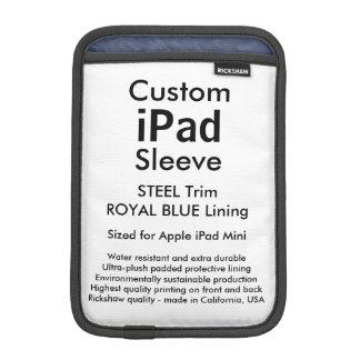 Mini manga del iPad de encargo - (azul de acero y Fundas iPad Mini