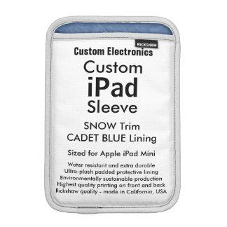 Mini manga del iPad de encargo - azul de la nieve Funda De iPad Mini