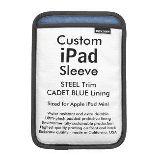 Mini manga del iPad de encargo - (azul del acero y Funda iPad Mini