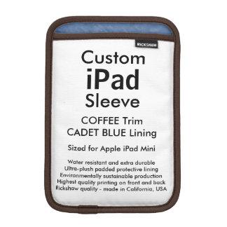 Mini manga del iPad de encargo - (azul del café y Fundas iPad Mini