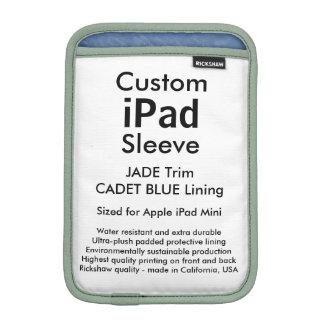 Mini manga del iPad de encargo - (azul del jade y Funda De iPad Mini