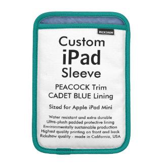 Mini manga del iPad de encargo - (azul del pavo Fundas Para iPad Mini