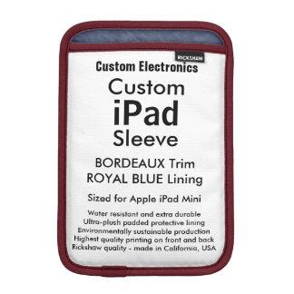Mini manga del iPad de encargo - Burdeos y azul Funda iPad Mini