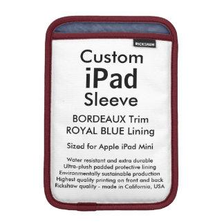 Mini manga del iPad de encargo - (Burdeos y azul Fundas Para iPad Mini