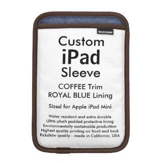 Mini manga del iPad de encargo - (café y azul Fundas Para iPad Mini