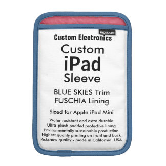 Mini manga del iPad de encargo - cielos azules y Funda Para iPad Mini