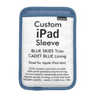 Mini manga del iPad de encargo - cielos azules y Funda De iPad Mini