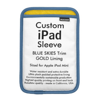 Mini manga del iPad de encargo - (cielos azules y Fundas iPad Mini