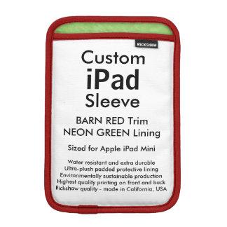 Mini manga del iPad de encargo - (granero rojo y Funda De iPad Mini