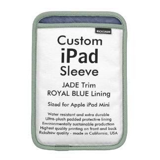 Mini manga del iPad de encargo - (jade y azul Fundas Para iPad Mini